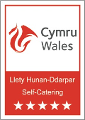 Graded 5 star by Wales Tourist Board