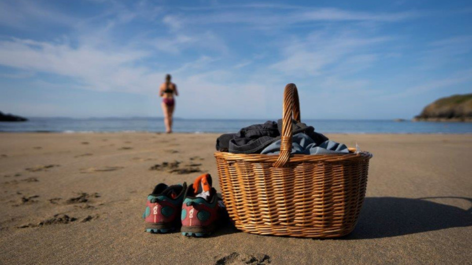 Basket-on-beach