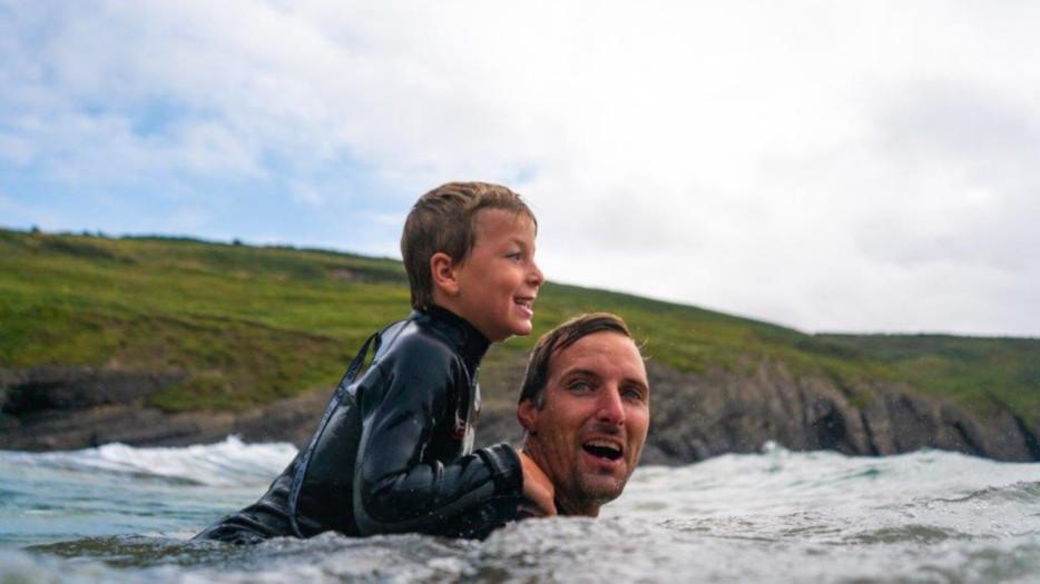 Fun-swimming-with-Dad